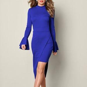 VENUS Asymmetrical Dress, Blue